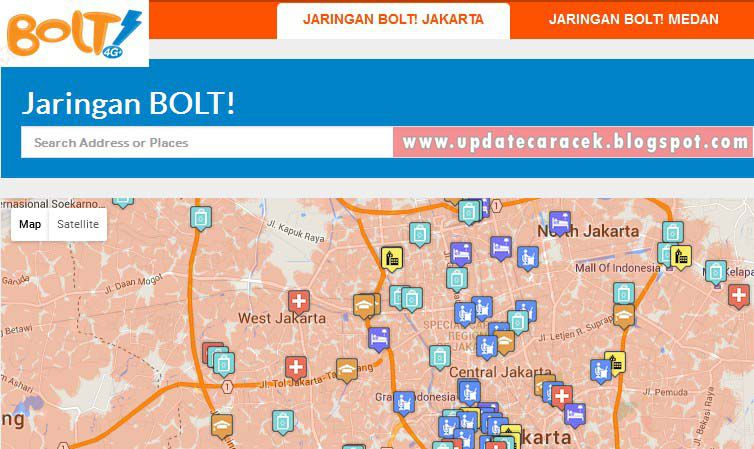gambar cara cek jaringan Bolt 4G