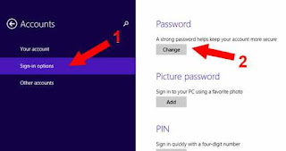 change Password Start Login di Windows 8