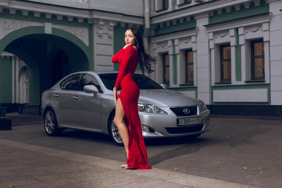 Lexus IS, kobieta i samochód, girls with cars