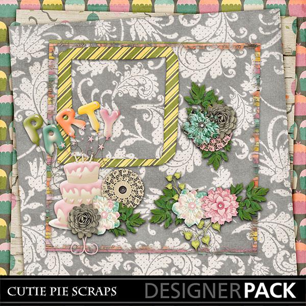 June Blog Train - Free Digital Scrapbookig Kits