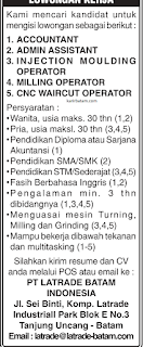 Lowongan Kerja PT. Latrade Batam Indonesia