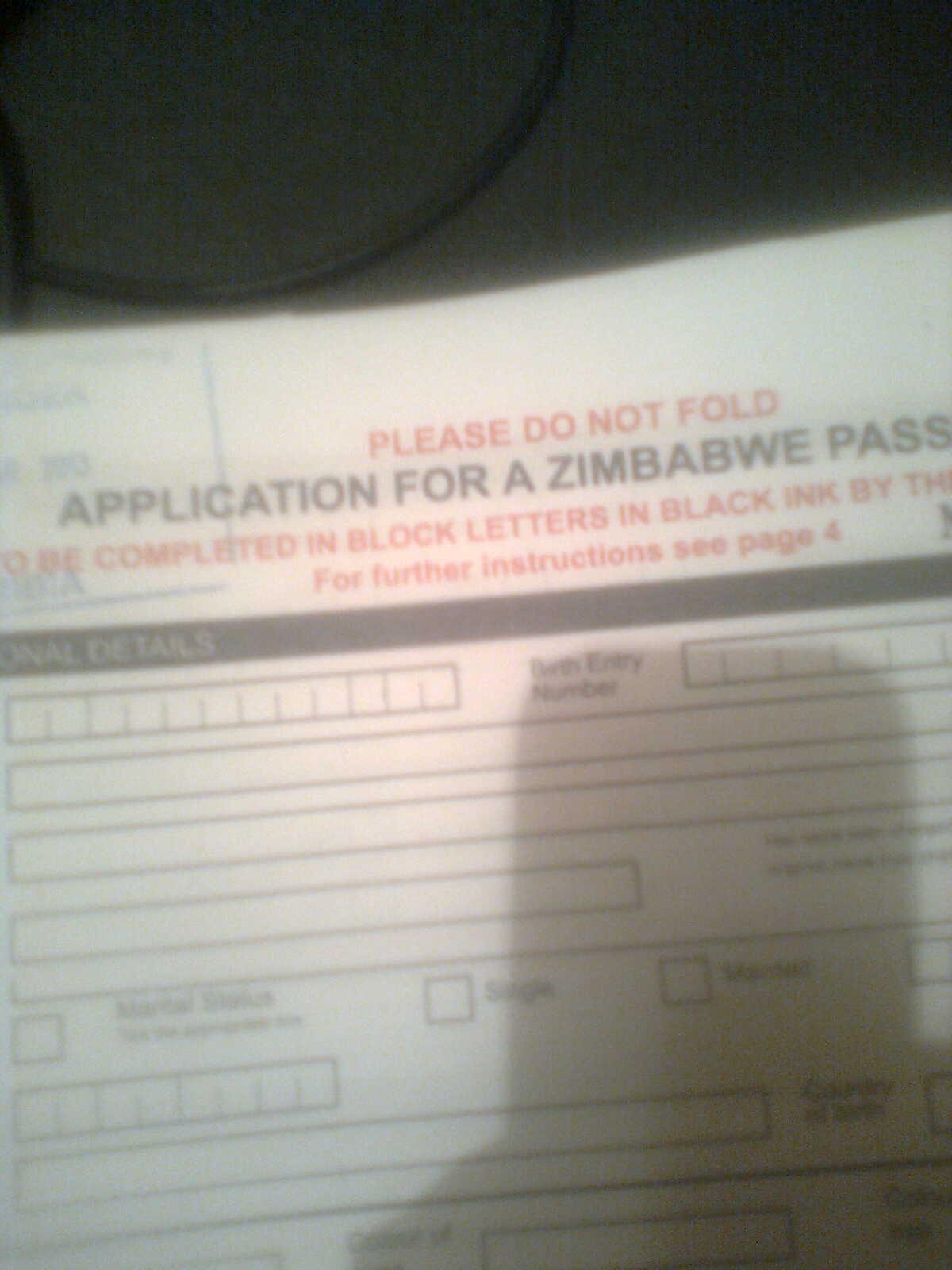 Zimbabwe Names How To Renew A Zimbabwe Passport At The Zim Embassy For Zimbabweans Living Abroad