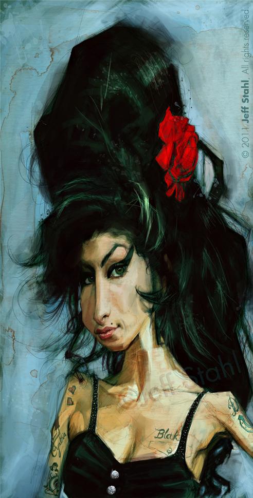 """""""Amy Winehouse"""" por Jeff Stahl"""