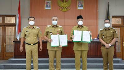 Jalin Kerjasama Pemkab Tangerang dan Pemkot Tangerang Selatan lakukan MOU tingkatkan Pelayanan Publik