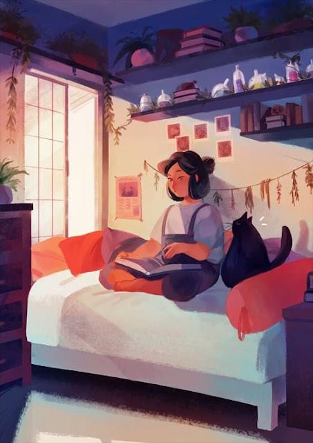 soledad, iluminación, libros