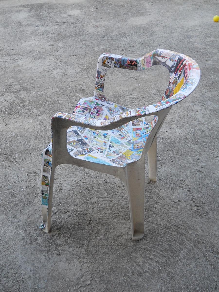 Come recuperare delle sedie di plastica rovinate prima for Sedie plastica