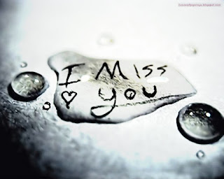 Download hd i miss you love text covered with water