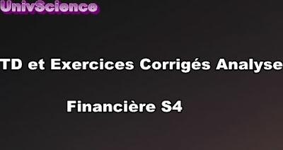 TD et Exercices Analyse Financière S4 PDF