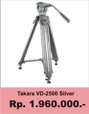 Harga Price Tripod Takara Atlanta VD-2500 - Minda Art Pro