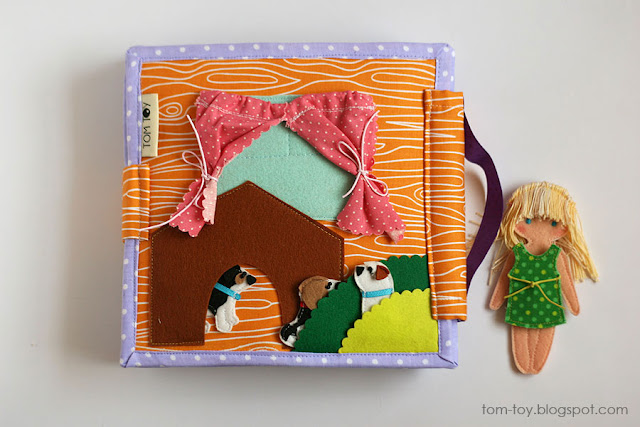 Dollhouse busy book, personalized quiet book for a girl Развивающая книжка кукольный домик