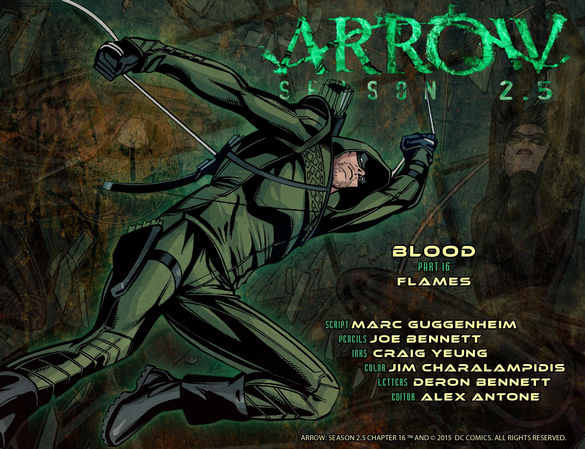Read online Arrow: Season 2.5 [I] comic -  Issue #16 - 2