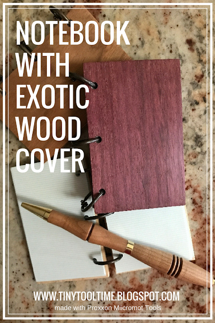 Notebook with Exotic Wood Cover