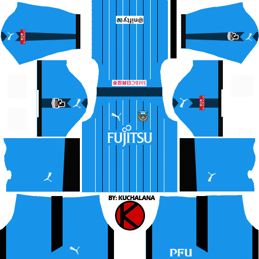 Kawasaki Frontale 川崎フロンターレ kits 2017 - Dream League Soccer