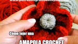 Cómo tejer una Amapola a Crochet / Tutorial