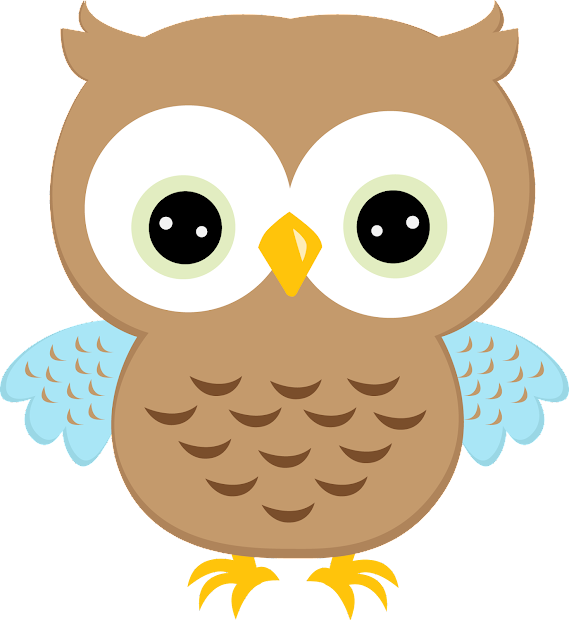 Quinceanera Owls In Colors Clipart. Quinceaneras