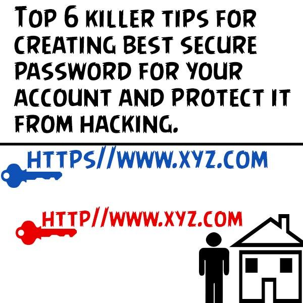 Top 6 killer tips for creating best security password