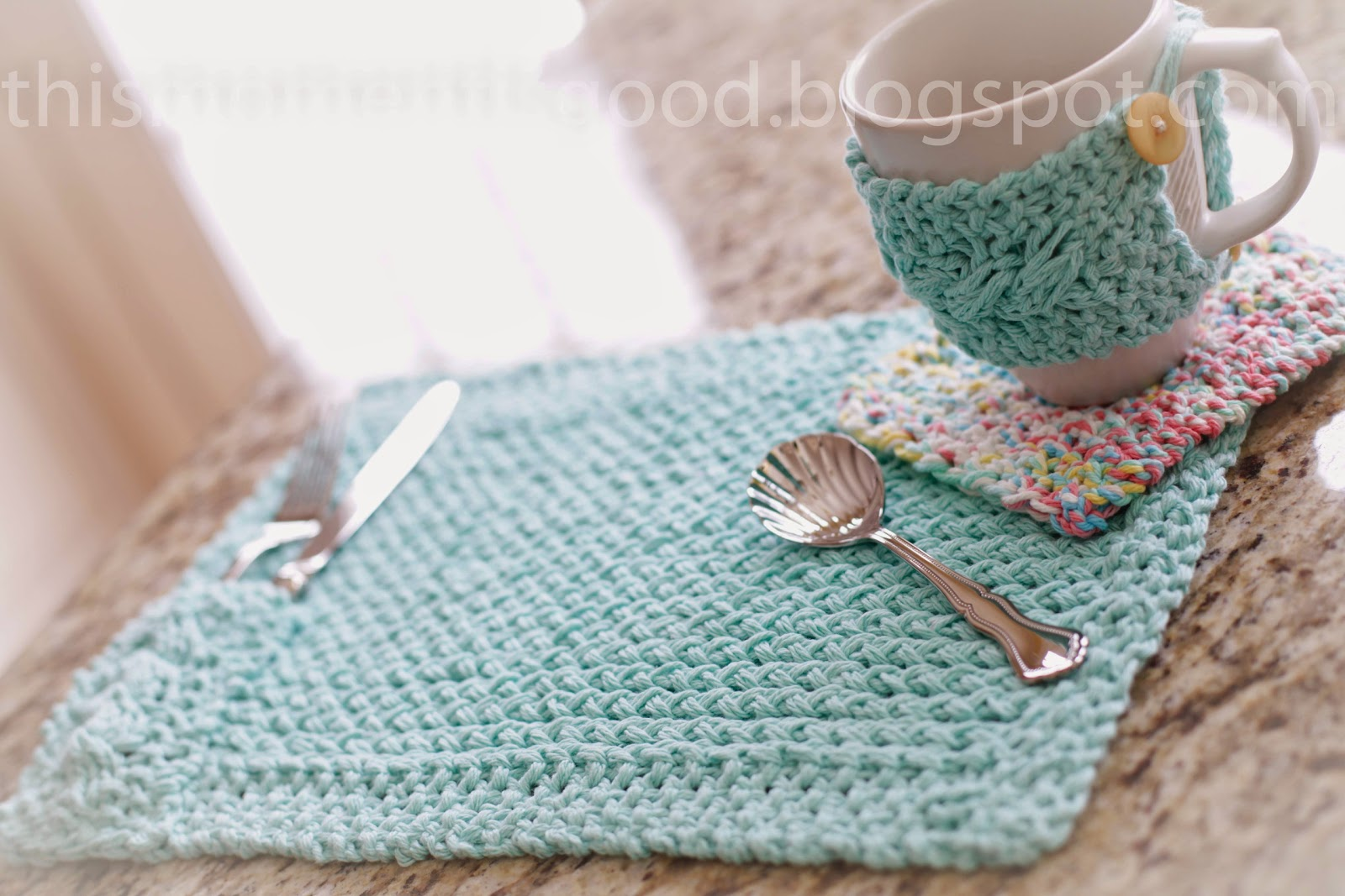 Free Loom Knit Kitchen Set Pattern Loom Knitting By This