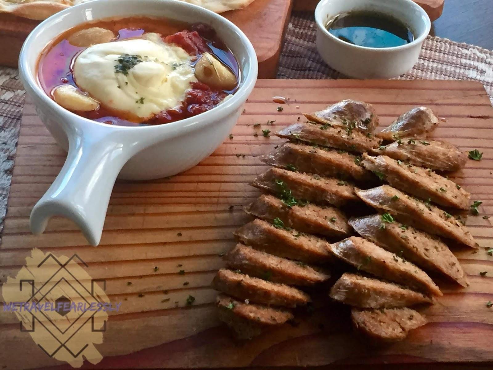 Burrata in Garlic Pomodoro and Italian Sausage in Cucina di Francesco in Libis, Quezon City