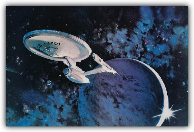 Starship Enterprise Departing Earth