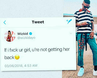 Wizkid Sends Out Warning From His Side