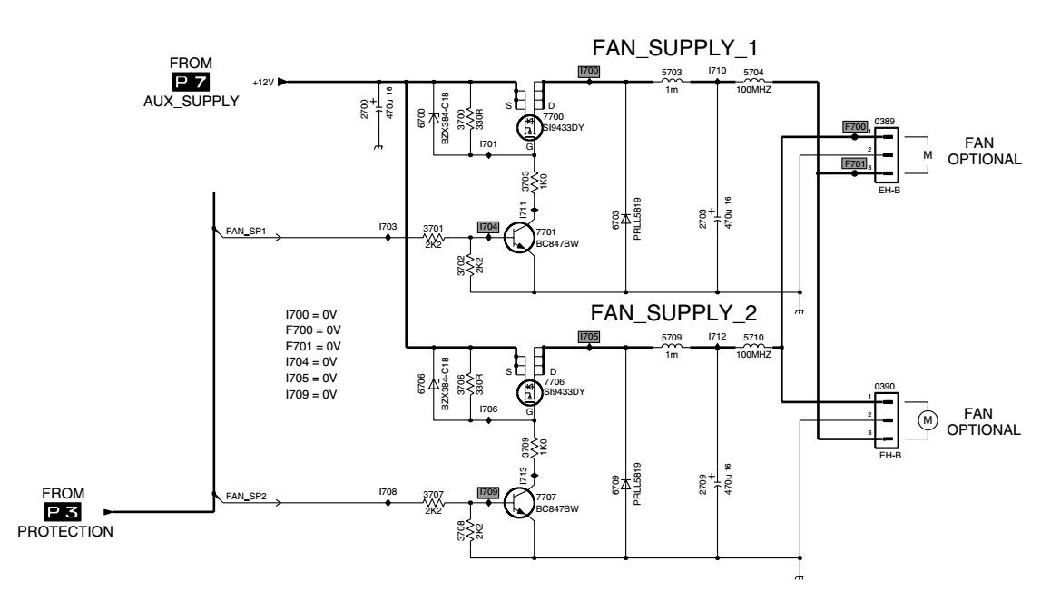 Philips Plasma TV FM23  Power and Audio amplifier Circuit