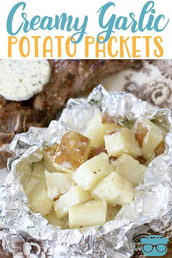 Creamy #garlic #potato #packets