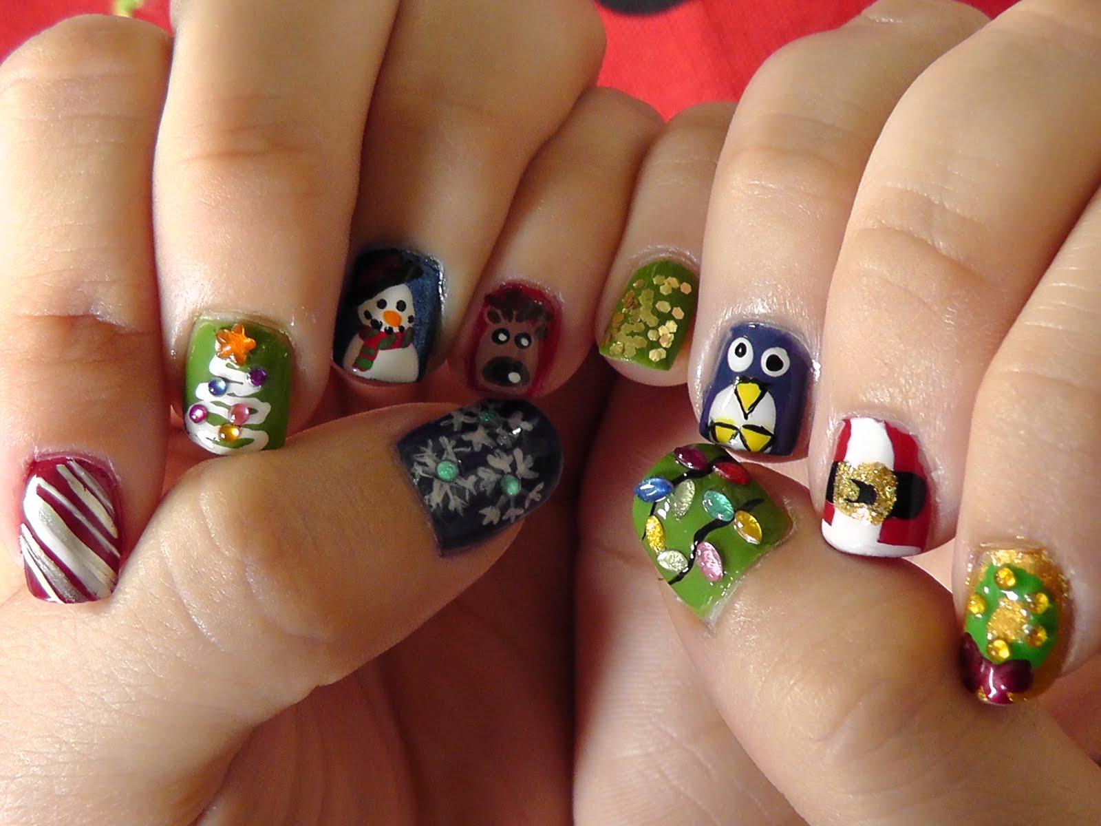 Cherie S Beauty Blog Christmas Nails 2011