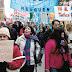 Primera protesta en rechazo de los aumentos de los servicios