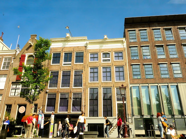 Street of buildings including the Anne Frank House in Amsterdam | Netherlands, Europe