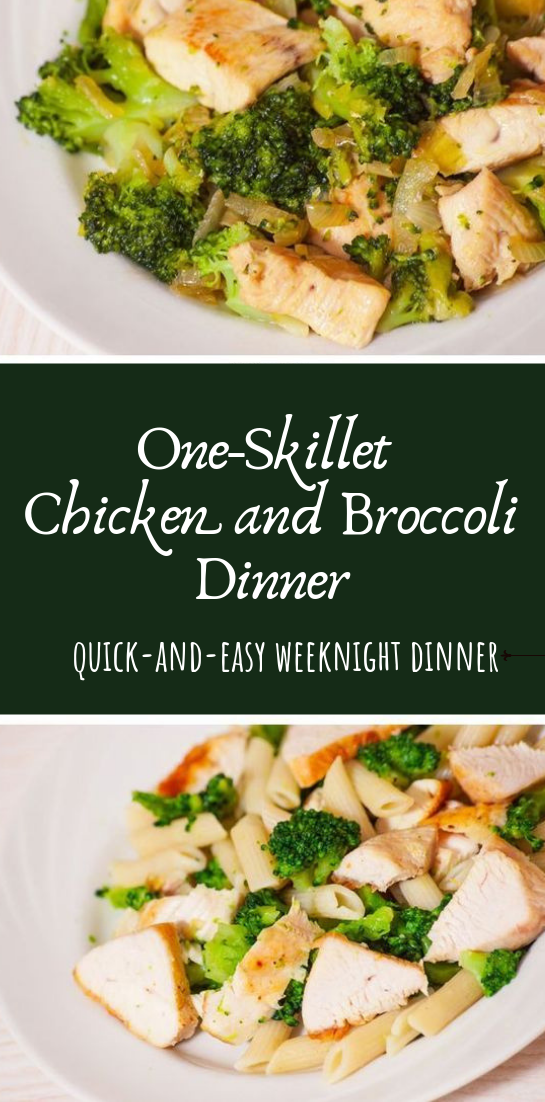 One-Skillet Chicken and Broccoli Dinner #dinnerrecipe #food
