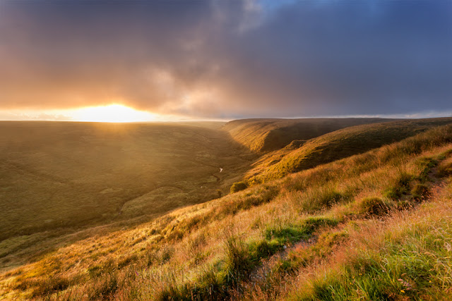 Sunrise bathes Exmoor National Park in warm light by Martyn Ferry Photography