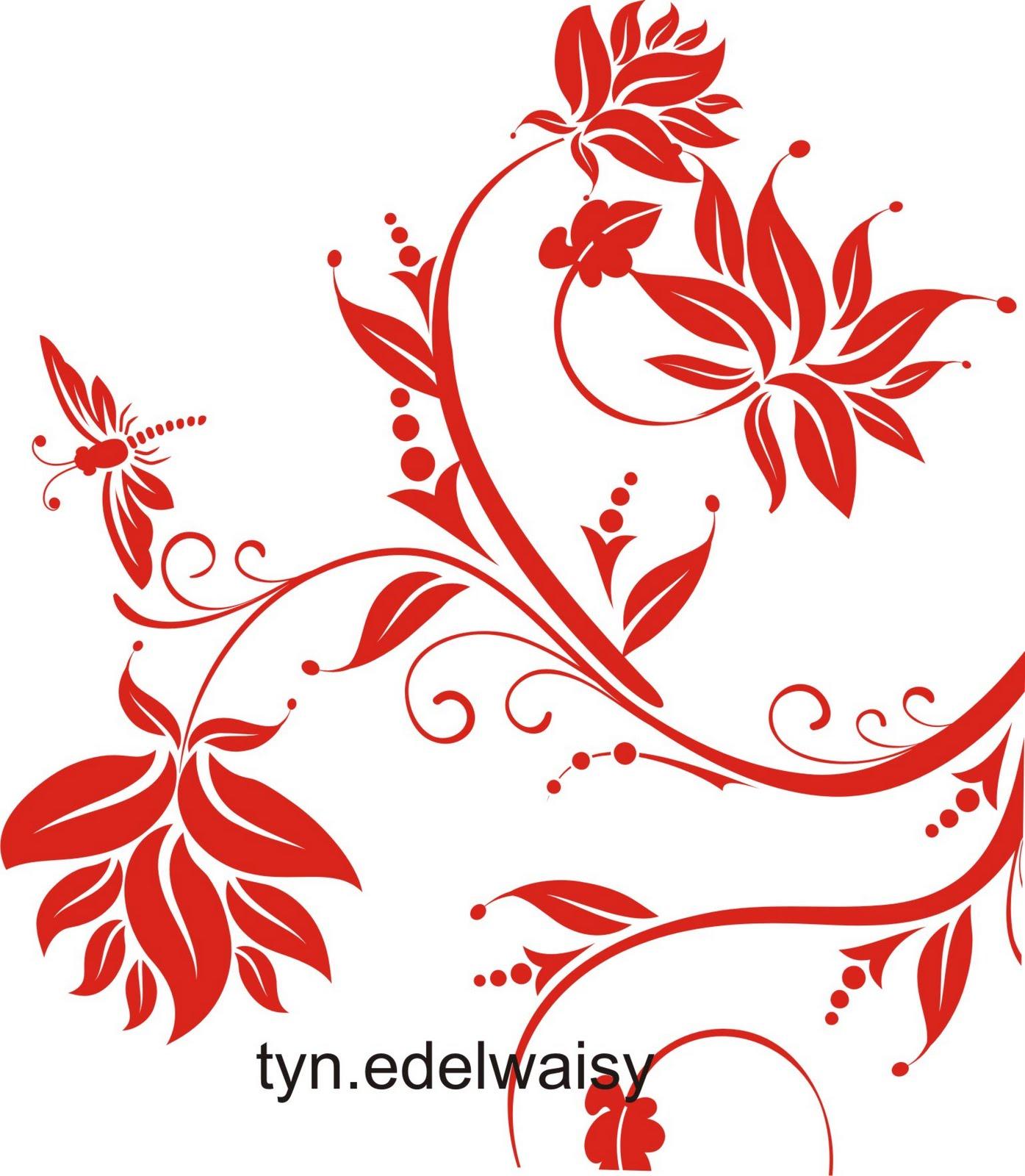 Swirly Background Bunga Vector Untuk Desain