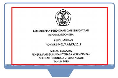 Rekrutmen - Penerimaan Guru dan Tenaga Kependidikan SILN Tahun 2019