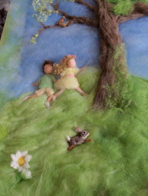 spring wool painting