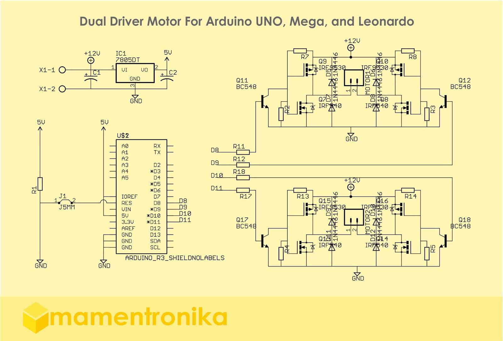 Arduino    Driver Motor Shield Untuk Arduino