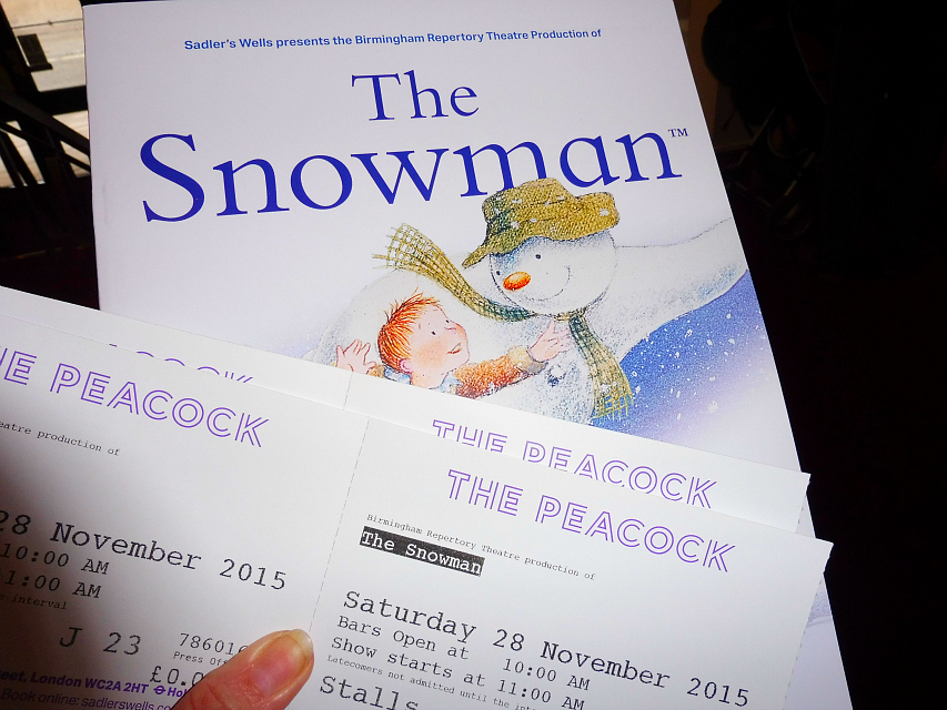 The Snowman The Peacock Theatre tickets and programme