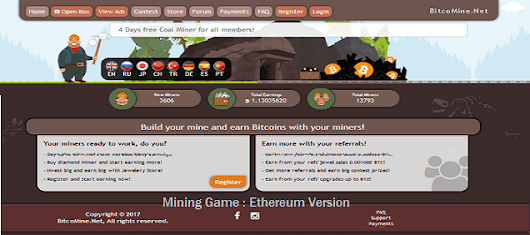 Best etherium Earning Mining Game Site