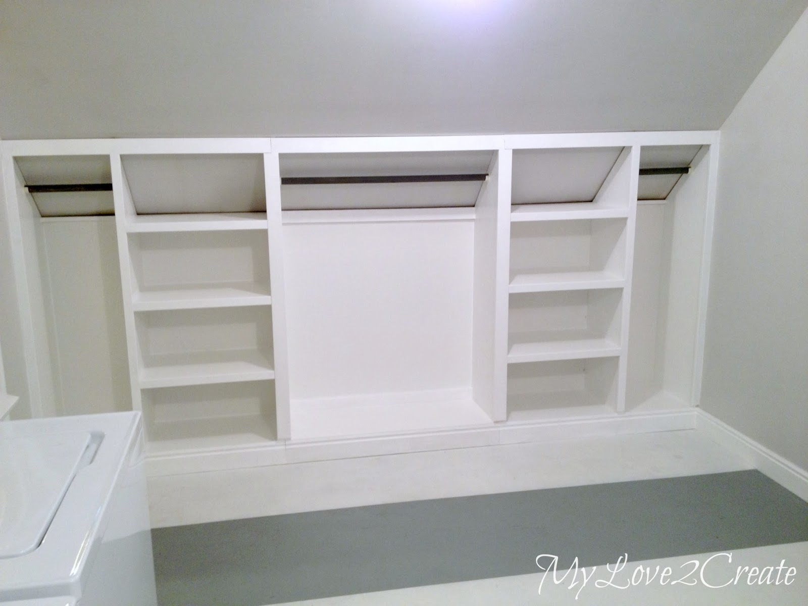 Diy Closet Built Ins Ana White Rolling Slanted Wall Built Ins Featuring My