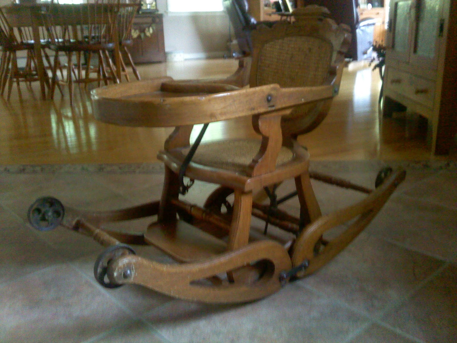 2313c96c30e45 Very Antique Treasures  Child s High Chair   Rocker ZY89
