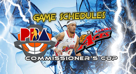 List of Alaska Aces Game Schedules 2017 PBA Commissioner's Cup
