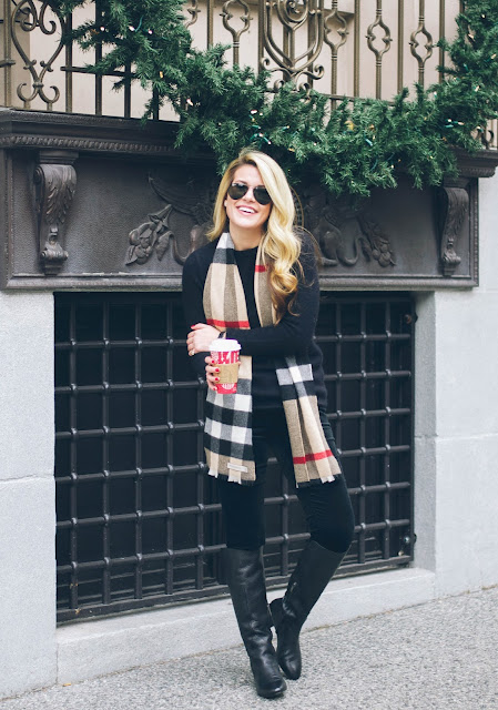 how to style a burberry scarf