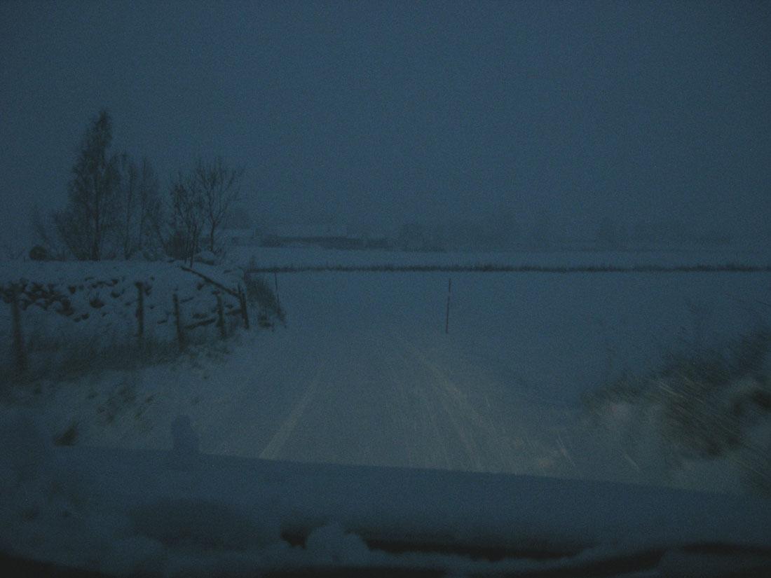 Una mattina in macchina in inverno