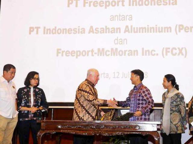 Presiden Joko Widodo Sepakat Dominasi Saham Freeport Indonesia