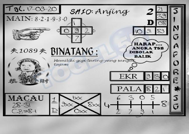 Kode syair Singapore Kamis 17 September 2020 233