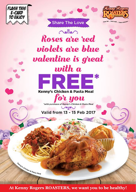 Kenny Rogers ROASTERS Buy 1 Free 1 KRR e-Card Valentine Promo