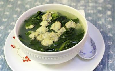 Canh ngao mùng tơi