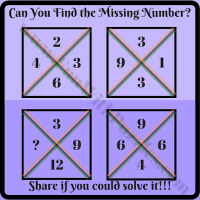 Easy math square brain teaser riddle