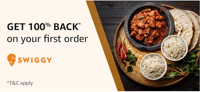 Amazon Pay  Swiggy Offer - 100% cashback on First Order - validity extended (christmas offer)