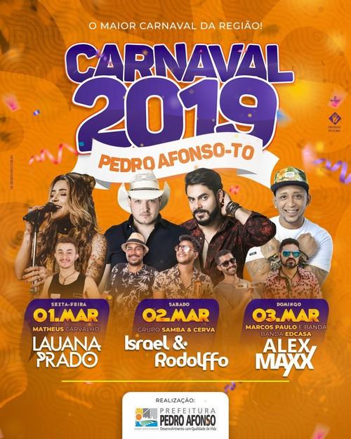programação do carnaval 2019 de pedro afonso do tocantins