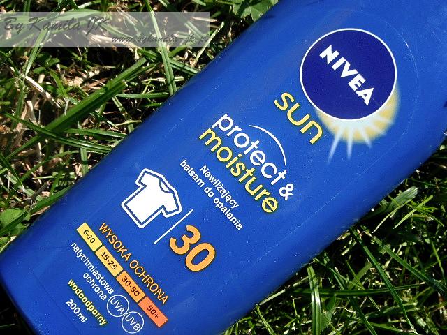 Nivea Sun balsam do opalania spf 30 Protect & Moisture Skuteczna ochrona przed oparzeniem słonecznym